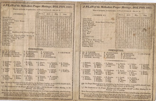Bolton Plan 1811 (Englesea Brook Chapel & Museum)