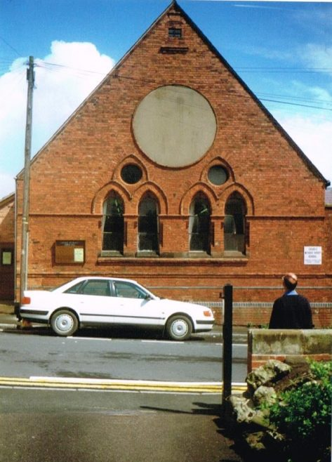 Cheadle Methodist church Hall in Charles Street, the former Sunday School to the Wesleyan Methodist chapel | Keith Guyler 1999