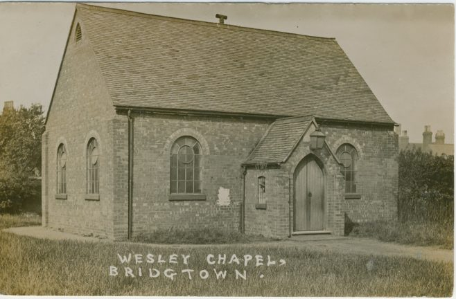 former Wesley chapel, Union Street, Bridgtown (Bridgetown)   Englesea Brook picture and postcard collection