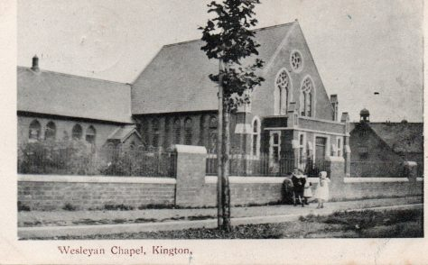 Kington Chapel, postcard sent 01.04.1905
