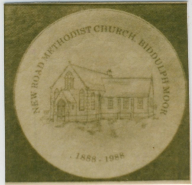 Biddluph Moor New Road Methodist chapel celebration plaque | Englesea Brook Museum picture and postcard collection