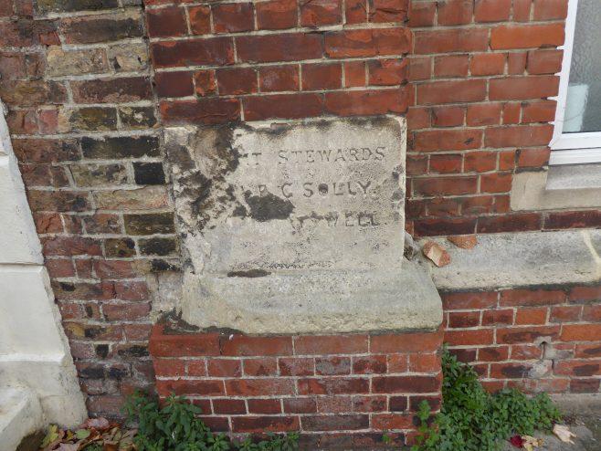 Ramsgate, Hardres Street, WM hall and schools, foundation stone (i), 13.10.2018