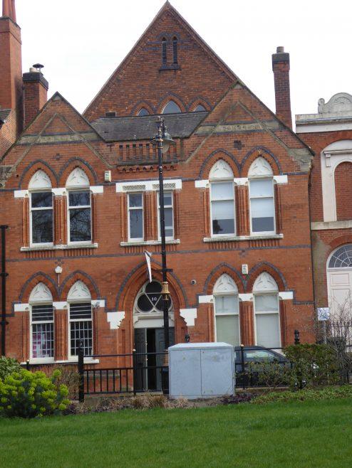 Leicester, Bishop Street Wesleyan Schools, facade, 16.3.2019