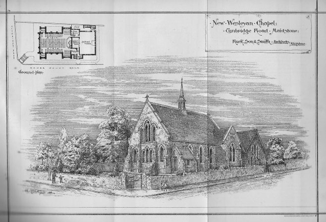 Tunbridge Road Maidstone Wesleyan Methodist chapel. | Wesleyan Chapel Committee