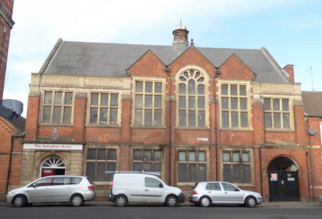 Rockingham Road-Regent Street W M Chapel, facade of 1904 building, 11.1.2019