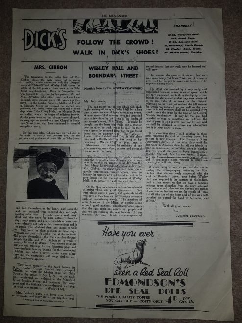 Church Article from Great Homer St  Liverpool 1939