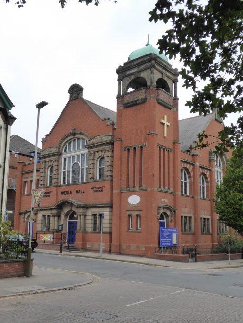 Leicester, Wesley Hall, chapel facade, 8.9.2018