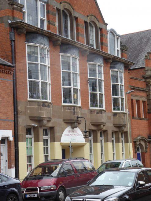 Leicester, Wesley Hall, schoolroom facade, 8.9.2018