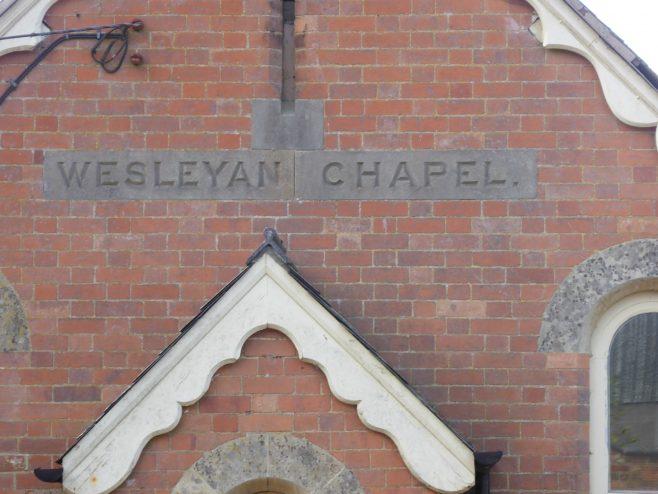 Mowsley Wesleyan Chapel, name plaque, 3.11.2018