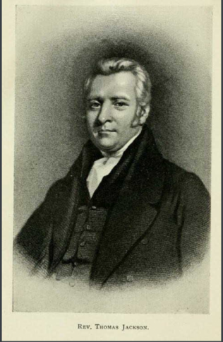 Reverend Thomas Jackson, President of the Wesleyan Methodist Conference in 1838