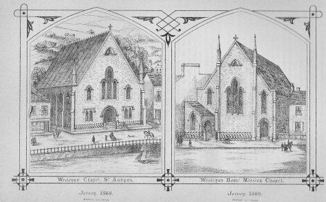 St. Aubin, and Seaton Place St. Helier Wesleyan chapels. Jersey