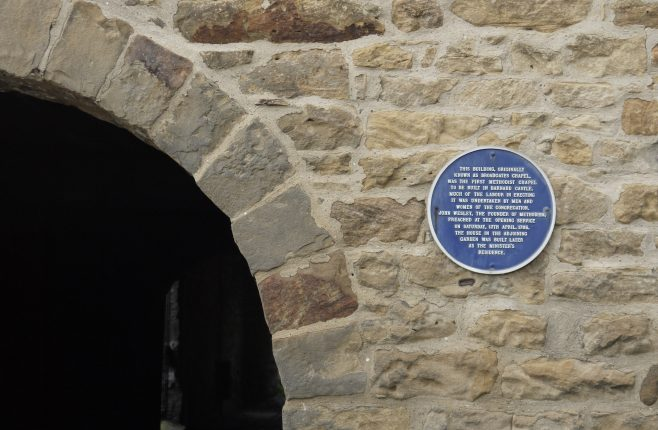 The plaque on the former Broadgates chapel | Philip Thornborow, 2018