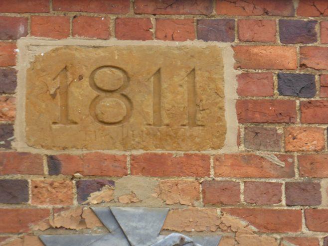 Brixworth WM chapel, date plaque, 25.05.2019