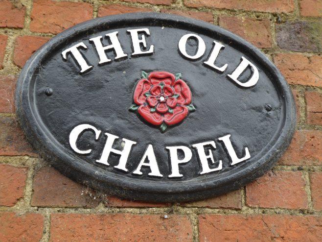 Brixworth WM chapel, present name plaque, 25.05.2019