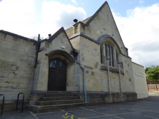 5 Four Oaks Methodist Chapel, east side of hall, 8.8.2019