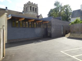 6 Four Oaks Methodist Chapel, recent extension of hall, north side, 8.8.2019