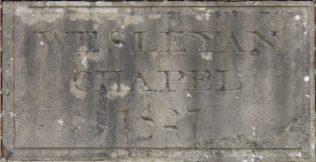 East Leake Wesleyan chapel foundation stone of the 1827 rebuilt chapel | Philip Thornborow, 2018