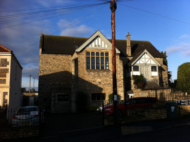 former Oldfield Park Wesleyan Methodist chapel from the east; the former tin hall was on the left | Christopher Hill December 2014