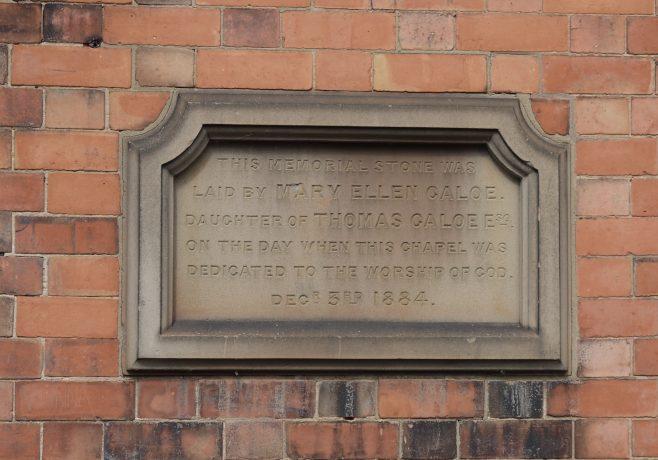 Sileby, High Street, a second foundation stone   Philip Thornborow, 2019
