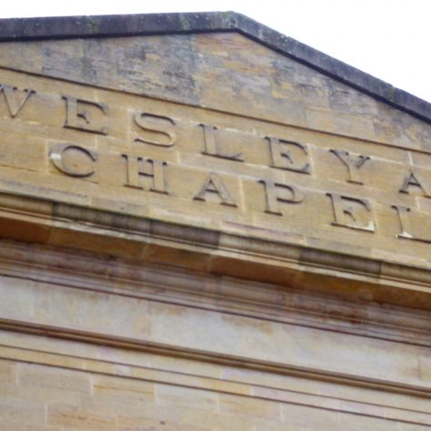 03 Grantham, Finkin Street, WM  Chapel name on pediment, 25.11.2019