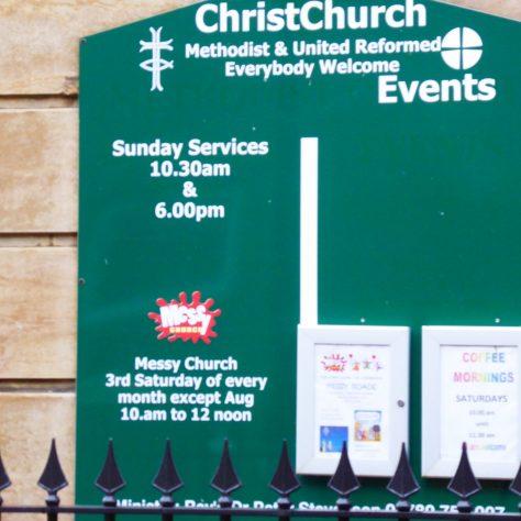 13 Grantham, Finkin Street, WM Chapel, notice board, 25.11.2019