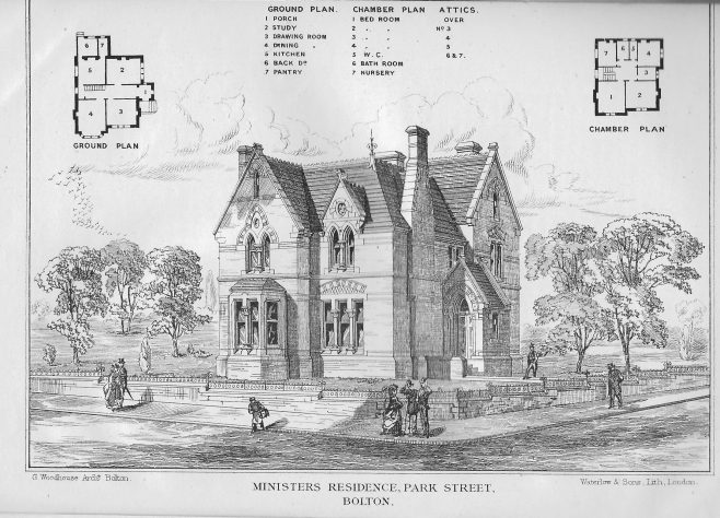 Minister's residence. Park Street, Bolton | Wesleyan Chapel Committee, 1869