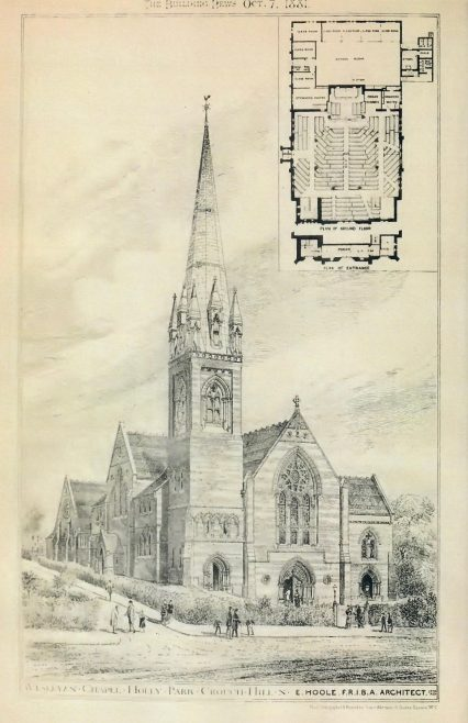 Holly Park Wesleyan Chapel | The Building News, 1881
