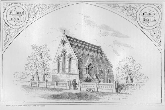 Sunbury Wesleyan Chapel | Wesleyan Chapel Committee, 1865,