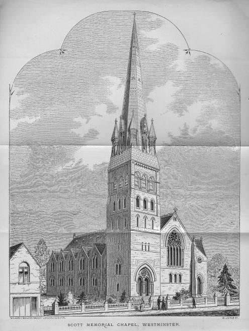 Scott Memorial Chapel, Horseferry Road, Westminster | Wesleyan Chapel Committee, 1870