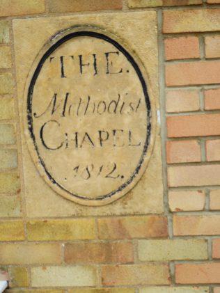 08 Bourne WM Chapel, plaque from 1812 chapel, 4.12.2019