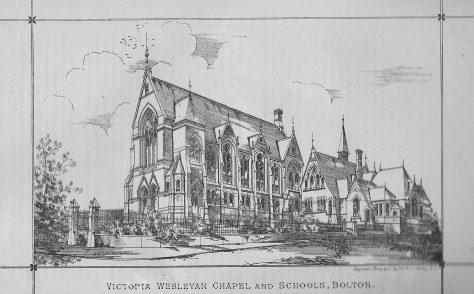 Bolton, Victoria Wesleyan chapel, Grecian Crescent