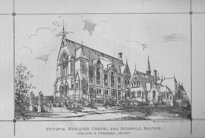 Victoria Wesleyan Chapel and Schools, Bolton   Wesleyan Chapel Committee, 1872