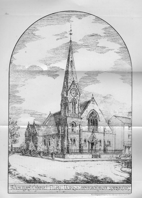 Filey, Trinity Wesleyan chapel as designed | Wesleyan Chapel Committee, 1878