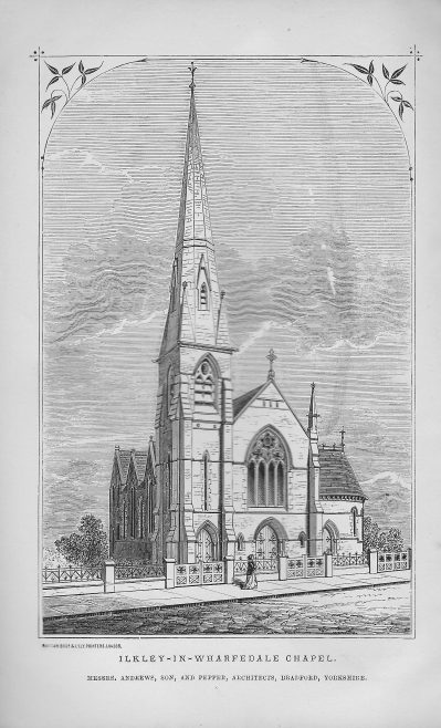 Ilkley, architect's drawing | Wesleyan Chapel Committee, 1869