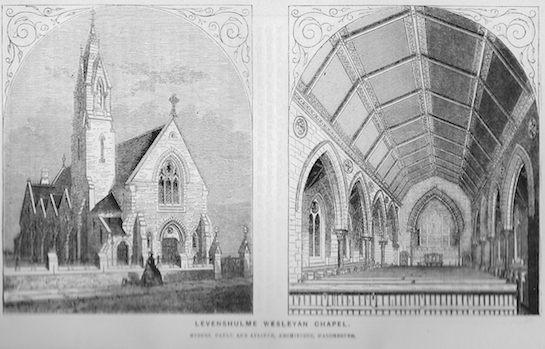 Levenshulme, Wesley chapel, Stockport Road | Wesleyan Chapel Committee, 1865