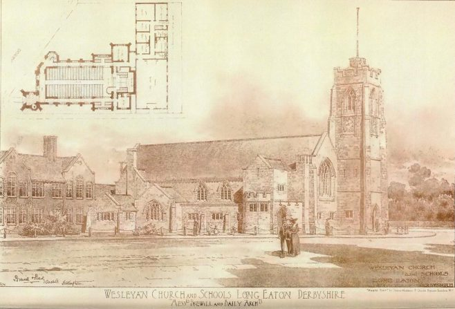 Long Eaton, Christ Church Methodist Church | The Building News, 1904