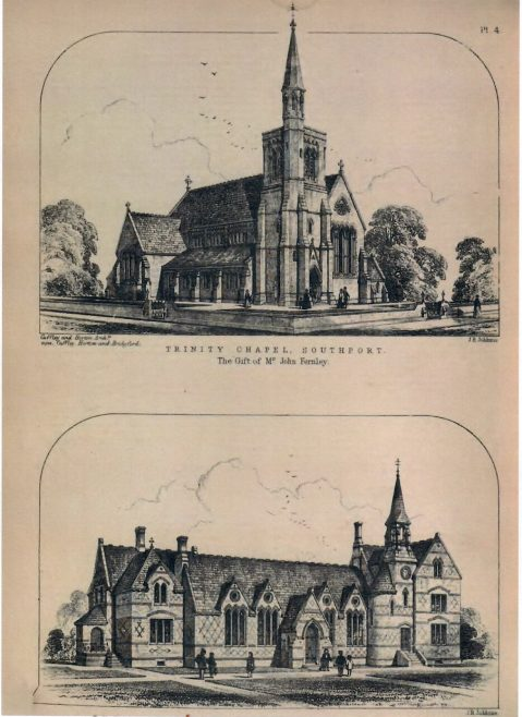 Trinity Wesleyan Chapel, Southport | The Civil Engineer and Architect's Journal, 1865