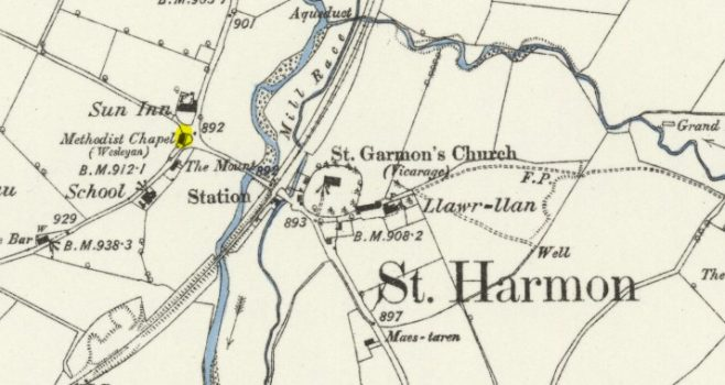 Posistion of the lost WM Chapel at St Harmon