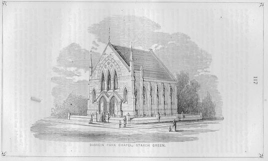 Bassein Park Wesleyan chapel, Askew Road. | Wesleyan Chapel Committee, 1866