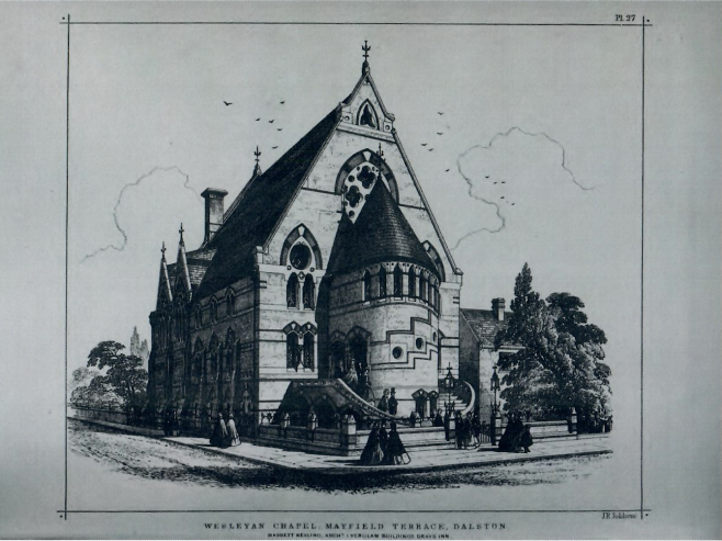 Dalston Wesleyan Chapel | The Civil Engineer and Architects Journal, 1865