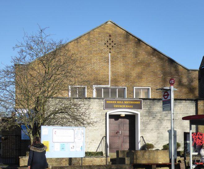 Herne Hill WM Chapel, facade 18.1.2020