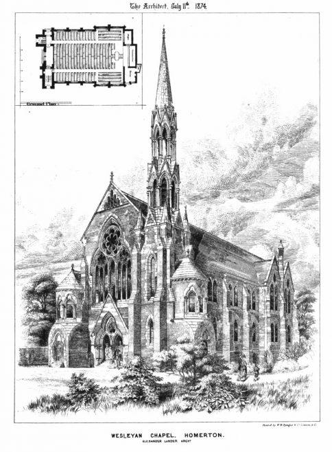 Wesleyan chapel, Homerton | The Architect, 1874