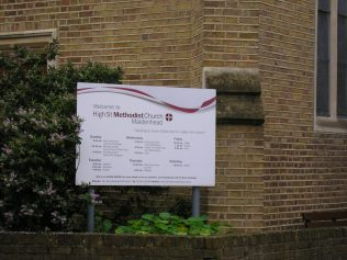 Maidenhead Methodist Chapel, notice board, 7.10.2015