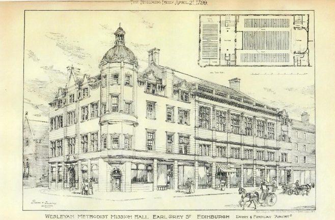 Edinburgh Central Hall | The Building News, 1899