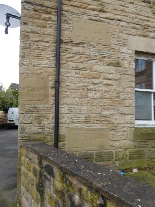 04 Sheffield, Crookes, School Road Wesleyan Chapel, foundation stone on  rear extension, 14-02-2020