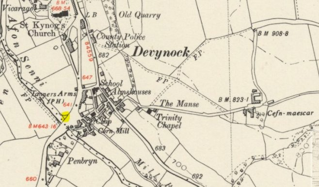 1953 map showing Chapel now gone