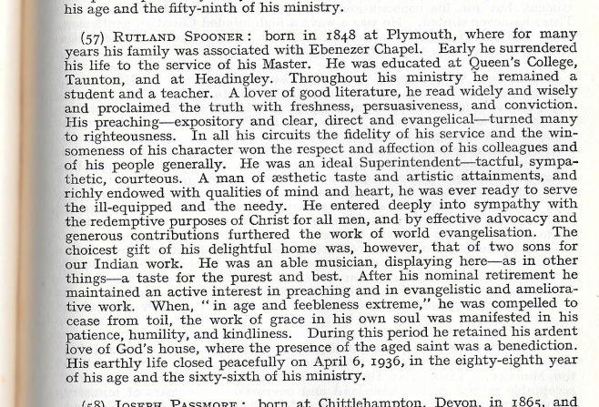 Rev Rutland Spooner 1848-1936