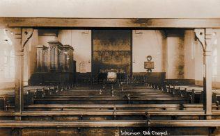 Barking Wesleyan Chapel Interior 1928 just before demolition