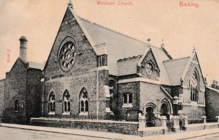 Barking Wesleyan Chapel postcard sent 19-04-1907
