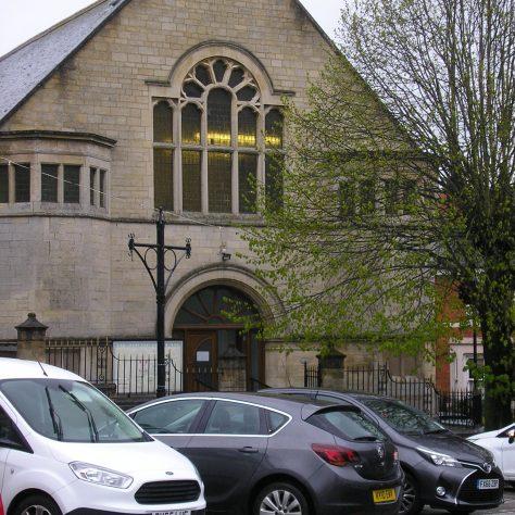 Rothwell ,Market Hill Wesleyan Chapel, chapel facade,  28.4.2018